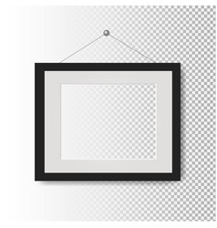 picture frame transparent background vector image