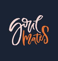 romantic handdrawn lettering vector image