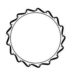round frame element vintage stamp vector image