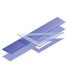 Ruler isometric vector