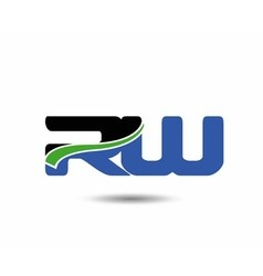 Rw company group linked letter logo vector