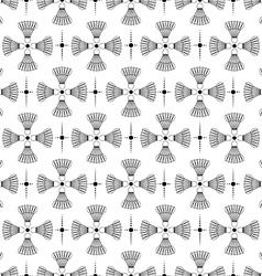 Seamless black design badminton pattern vector image