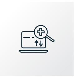 search engine icon line symbol premium quality vector image
