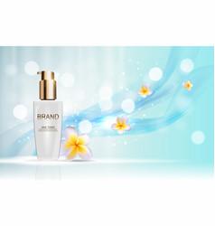Skin toner bottle tube template for ads vector