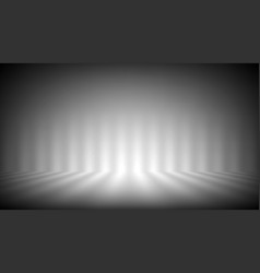 Soft gray photo studio strip lights room vector