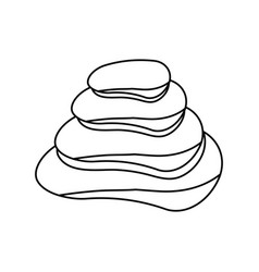 Spa stones isolated vector