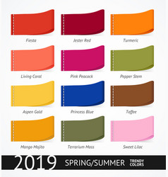 Spring and summer trendy colors label set vector