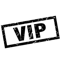 Square grunge black vip stamp vector