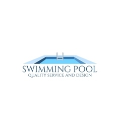 Swimming pool logo vector
