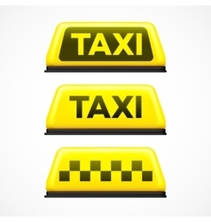 Taxi sign on white background vector