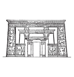 Temple of isis roman temple vintage engraving vector