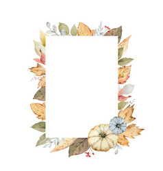 thanksgiving frame colorful pumpkins vector image