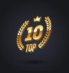 Top 10 award emblem golden award logo vector