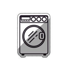 washing machine laundry vector image