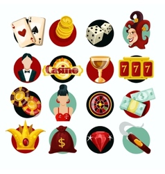 Casino Icons Set vector image vector image