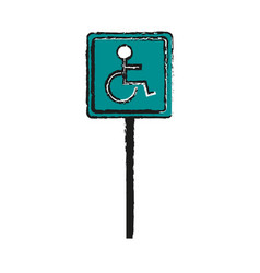 disabled person parking sign icon image vector image vector image