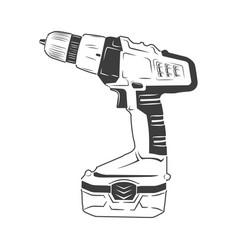 electric screwdriver isolated vector image vector image
