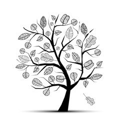 Art tree beautiful vector image