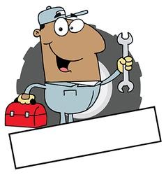 Cartoon mechanic vector image vector image