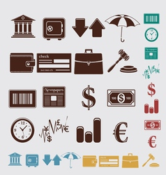 finance set vector image