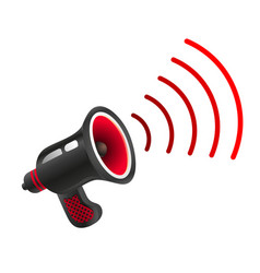 retro black megaphone vector image