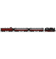Retro steam train vector image vector image