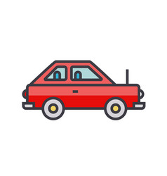 simple cute car vehicle flat line vector image vector image