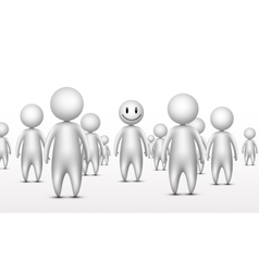 Stand out from the crowd business unique concept vector image