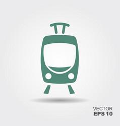 tram icon flat vector image