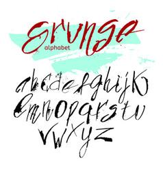 hand drawn alphabet in calligraphy brush vector image
