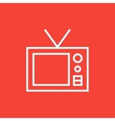 Retro television line icon vector image