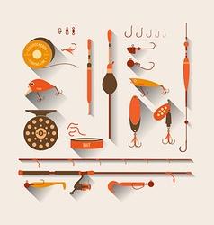 Set Fishing tackle vector image