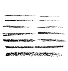 The charcoal brushes vector image vector image