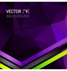 Abstract 3D geometric colorful background vector image vector image
