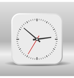Clock icon on a white background vector image