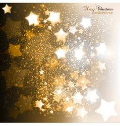 Elegant christmas background with golden stars vector