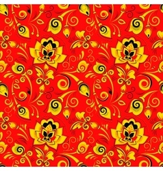 Floral seamless pattern in russian style khokhloma vector image vector image