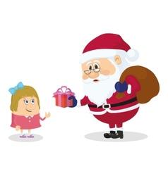 Santa Claus and girl vector image