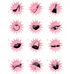 symbol accessories icons vector image vector image