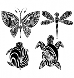 tattoo design butterfly dragonfly vector image vector image