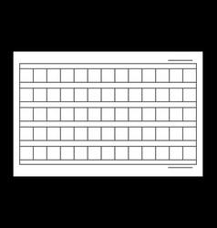 15x6 squared manuscript paper stock vector
