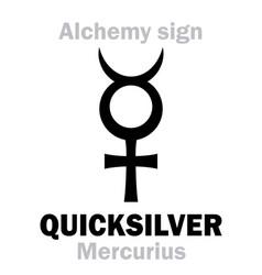 Alchemy quicksilver mercury vector
