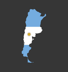 argentina map with flag vector image