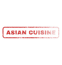 Asian cuisine rubber stamp vector