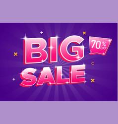 Big sale banner sale 3d typography advertising vector