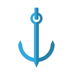 blue anchor nautical travel maritime shadow vector image
