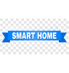 Blue stripe with smart home title vector