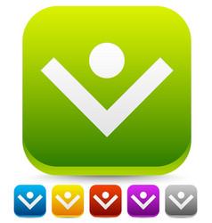 bright colorful download arrow unique download vector image