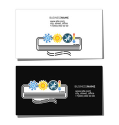 business card for air conditioning maintenance vector image