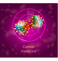 Cancer medicine conceptual vector